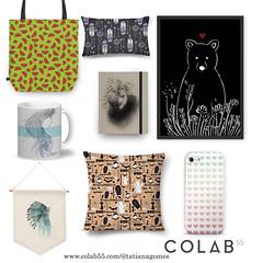 https://www.colab55.com/@tatianagomes (TatianaArts) Tags: colab55 illustration shop pattern india leão animal corações melancias halloween urso
