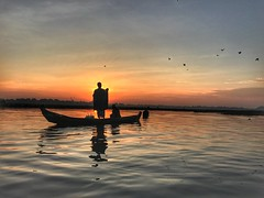 The Yearning~ Myanmar (~mimo~) Tags: iphone mobile outdoorshotoniphone7 river lake water birds boat bridge ubein mandalay asia myanmar
