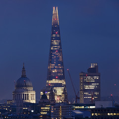 Shard (Umbreen Hafeez) Tags: skyline architecture city building london cityscape uk gb england night dark low light long exposure twilight blue hour outdoor st pauls cathedral shard