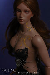 "Iplehouse EID Raffine FOMA ""Ebony with Gold Tattoo"" Photoshop Dark Hair (animerockstar) Tags: photoshop doll eid bjd limited ebony foma raffine iplehouse goldtattoo"