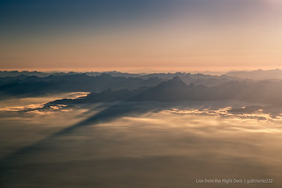 Evening light over the Alps