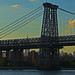 Manhattan Bridge Silhouetted NYC NY