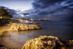... (Theophilos) Tags: sea sky rock night clouds crete rethymno νύχτα κρήτη σύννεφα θάλασσα ρέθυμνο ουρανόσ βράχοσ