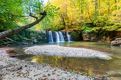 Suuctu waterfall, Bursa (Nejdet Duzen) Tags: trip travel autumn reflection fall nature water forest turkey waterfall pond trkiye bursa doga yansma orman turkei sonbahar seyahat suuctu elale mustafakemalpasa