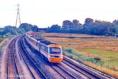 HST at Speed Somewhere in South Wales (Banchango) Tags: 1992 hst class43 diesellocomotives classicdesign wales southwales welshrailways informationrequested intercity location helpwithlocationrequested where