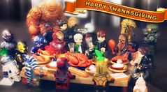Happy Thanksgiving!! (MGF Customs/Reviews) Tags: thanksgiving b man america four star michael fantastic war iron force lego kate 5 thing chief flash halo jordan master civil solo r2d2 mara captain figure rey ren miles wars reverse custom finn marvel han yellowjacket chewbacca daredevil teller tano guardians minifigure the 2015 awakens ultron arbiter antman phasma ahsoka bb8 kylo