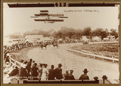 Columbia Co Fair with Barnstorming Airplane, 1912