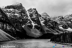 IMG_0264-Edit.jpg (Bart Comstock) Tags: blackandwhite bw lake canada mountains rockies alberta banff canadianrockies lakemoraine