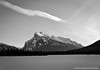 Black and White Mt. Rundle (Witty nickname) Tags: trees winter blackandwhite bw cloud snow mountains cold ice frozen december banff chilly rockymountains fullframe fx frozenlake d800 banffnationalpark mtrundle vermilionlake blackandwhitemountains nikkor2470mmf28