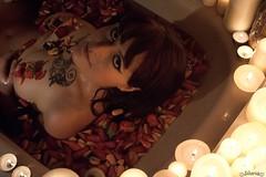 The Rose (annesilaria) Tags: portrait woman nude sensual rosepetals