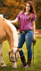 cowgirl (clickn0w) Tags: cowgirl horse model fall fallcolors summer