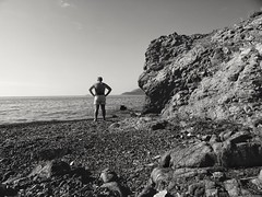 October .. without swimmers.. tourists ... children .. Dogs .. sunprotection oils ... Now tranquility ... all the beach is mine until June. (panoskaralis) Tags: beach shore coast sea seaside swimm swimming summer greeksummer summerholidays holidays blackwhite blackandwhite bw lesbos lesvosisland lesvos mytilene aegean aegeansea greece greek hellas hellenic outdoor monochrome