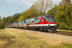 16-7536cr (George Hamlin) Tags: maryland washington grove railroad passenger train amtrak atk 30 eastbound capitol limited general electric p42 diesel locomotive 42 honoring our veterans special paint scheme fall foliage photo decor george hamlin photography
