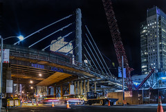 shimmick construction (pbo31) Tags: sanfrancisco california nikon d810 night dark black october fall 2016 boury pbo31 city urban color construction financialdistrictsouth howardstreet bridge transbay terminal bus cablestay rinconhill lightstream traffic roadway motion street panoramic large stitched panorama crane workers