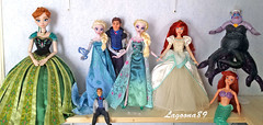 OOAK Doll Collection (Lagoona89) Tags: disney dolls ooak repaint ariel little mermaid frozen anna elsa hans ursula