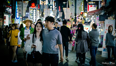 Navigating through the lights of Myeongdong (gunman47) Tags: 24105 24105mm asia asian korea korean myeongdong rok republic seoul south alley couple landscape lights neon night photography shopping sign signs street tourist       southkorea