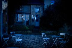 Le Jardinet (Clydomatic) Tags: rimbaud charleville maison ailleurs jardin jardinet nuit table chaise