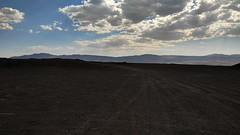 Pisgah Crater, Mojave Desert, CA (lotos_leo) Tags: pisgahcrater mojavedesert ca california cinder cone quarry black sand pumice landscape volcanic cinders mine pahoehoe crater            barstow sky terra outdoor road