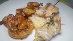 #071016 #jantar peixe e batatas assadas   #dinner fish and chips (i cook my meals daily) Tags: dinner jantar 071016