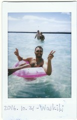 Floaty (daniellih) Tags: 2016 october oahu hawaii waikikibeach waikiki beach shore water fun sun sunny people fujifilm fujiinstax fuji instax film portrait friend float island tropics tropic tropical