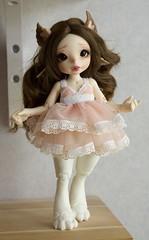 New dress (~Akara~) Tags: bjd ball jointed doll fairyland fairy land fl realfee real fee rlf mari custom faceup face up dress dresses handmade etsy lace