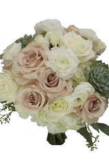 DustySucculentBridal (FestivitiesMN) Tags: rounded quicksan ranunculus succulent white blue seeded eucalyptus rose bride bridal