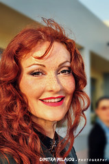 a beautiful moment... (dimitra_milaiou) Tags: maria markesini singer people music jazz greek musician greece red hair woman andros smile face portrait nikon d90 d 90 milaiou dimitra eyes 2015 2016 life love beautiful nice lovely live concert megaro may october photo photography athens hall 1855mm        hellas  europe style fashion