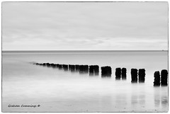 Seaside Simplified (Graham Cummings) Tags: sea sky landscape seascape waves groyne beach sand 10stop nd filter ndfilter longexposure art blackandwhite fineart tranquil yorkshire yorkshirecoast bridlington
