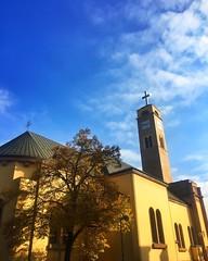 Church  (ivanatilosanec) Tags: bluesky city zagreb urban street autumn church