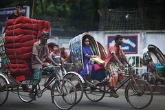 Help me portray you (N A Y E E M) Tags: rickshaw red girl men today afternoon street norahmedroad chittagong bangladesh windshield