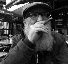 Portrait (JosDay) Tags: portrait bw zw smoking akbar nocandid