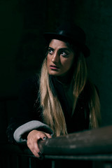 The Third Woman (Rob Hall (SquarePhotography.co.uk)) Tags: robhall trilbyspats robinhall squarephotography squarephotographycouk noir filmnoir trilby bannister