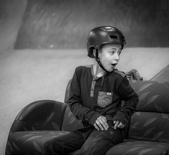 Ouch that hurts (m3dborg) Tags: portrait portraits people boy skater bw black white indoor natural light bokeh depth field sony a77ii dt 50mm f14 monochrome