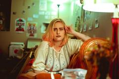 Ellie Black || Conway, AR || 2016 (Alexandria Adams) Tags: blond eyebrows green pink college hendrix arkansas conway portrait girl