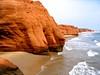 Magdalene islands. (In Julie's lens) Tags: beach nature rocks erosion island quebec iles de la madeleine magdalene travel calm sea orange