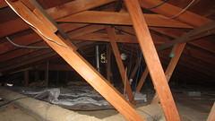 IMG_1448 attic scuttlehole view west to fan (ceztom) Tags: march 14 2016 home goleta new scuttlehole attic