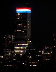 States of Anxiety (ZoKë) Tags: midtown signofthetimes dark newyork patriotic redwhiteandblue nighttime bloombergbuilding