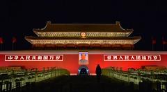 Beijing - Tian'anmen (cnmark) Tags: china beijing tiananmen national symbol historic site forbidden city mao zedong portrait light night nacht nachtaufnahme noche nuit notte noite 中国 北京 天安门 ©allrightsreserved