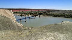 _DSC2226 (slackest2) Tags: bridge concrete iron wood water river sky curdimurka railway south australia stuart creek ghan