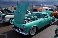 One More '55 Thunderbird (ilgunmkr - Thanks for 5,000,000+ Views) Tags: carshow amboyillinois 2016 ford 1955thunderbird thunderbird 1955 thunderbirdblue removablehardtop