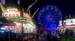 Atlanta, GA: Makeshift amusement park at Cumberland Mall (nabobswims) Tags: atlanta night georgia us unitedstates ferriswheel amusementpark lightroom cobbcounty nabob photomatix cumberlandmall nabobswims