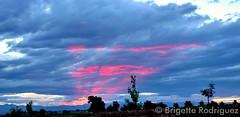 August 12, 2015 - Beautiful sunset lit clouds.  (Brigette Rodriguez)
