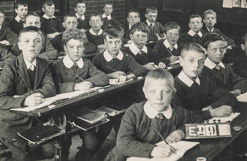 Class photo of a group of school boys by simpleinsomnia, on Flickr