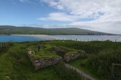 Church, tombolo and sea from St Ninian's Isle (Darkhorse Winterwolf) Tags: uk sea beach church water scotland sand unitedkingdom shetland tombolo stniniansisle shetlandisles zetland