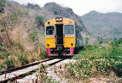 Thailand - Burma Railway - In the wild (railasia) Tags: 2004 thailand kanchanaburi srt dmu burmarailway photographyby metergauge thasao