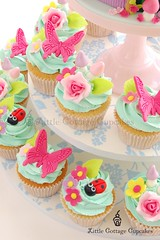 Garden Party Cupcakes (Little Cottage Cupcakes) Tags: birthday party flower cakes cake garden cupcakes pastel peony fairy birthdaycake fairies magical gardenparty enchanted peonies fondant cupcaketower sugarart flowerfairy tieredcake fairycake sugarpaste cakeart girlcake littlecottagecupcakes