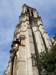 A Place of Light (Karol P) Tags: voyage travel light paris france architecture religious photography catholic cathedral streetlamp lumire religion frana notredame holy cathdrale iledelacite frenchgothic catholique notredameparis photografie ourladyofparis