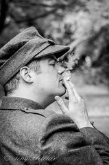 'CIGGY COMFORT ' - 'POLISH ARMY' - 'CRICH TRAMWAY VILLAGE 1940's' - 8th-9th AUGUST 2015 (tonyfletcher) Tags: portrait vintage model 1940s homefront 40s crich crichtramwayvillage tonyfletcher crich1940s whitbygothscenecouk crich1940sevent crich1940s2015 tonyfletcher2001yahoocom crichtramwayvilliage1940saugust2015