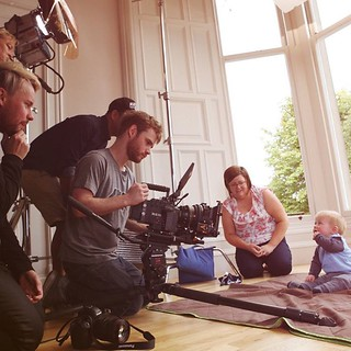 Baby's Day Out for the @CheekyChompers ​'s TV advert. It was fun seeing all the adults making faces to make babies laugh. #squareelephant  #Edinburgh #tv  #advert  #advertising  #commercial #cute #Edinburgh #Scotland @guerillascope @squareelephant @cheeky