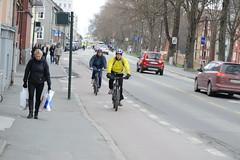 Sykkelfelt Kjpmannsgt. 0649 (Miljpakken) Tags: trondheim rdt sykling bymilj gatemilj miljpakken syklister bygate bytransport bytrafikk miljopakken sykkelveg sykkelanlegg bysykling